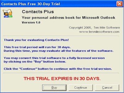 Click to view TrialwareDialog  ActiveX Control 1.1.2 screenshot